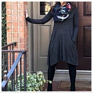 Dresses & Skirts - ✨RESTOCK✨charcoal grey side pocket dress